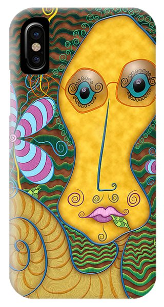 Portrait Of The Artist As A Young Snail IPhone Case