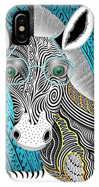 Portrait Of The Artist As A Young Zebra IPhone Case