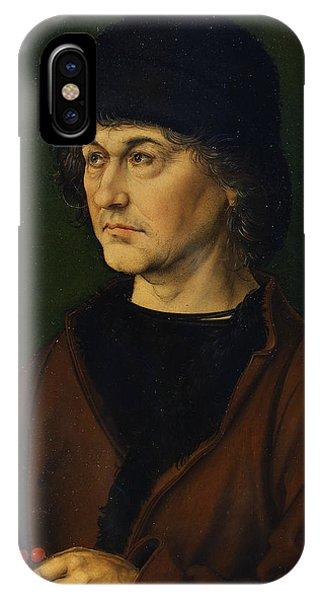 Albrecht Durer iPhone Case - Portrait Of The Artist's Father  by Albrecht Durer