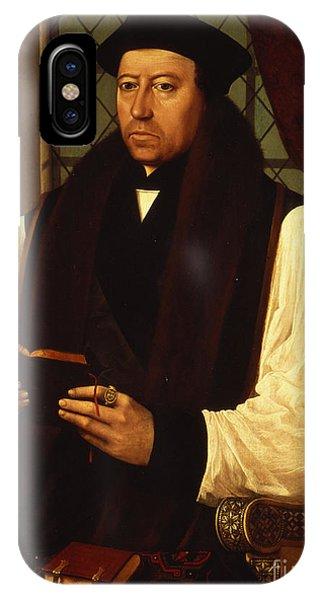 Portrait Of Thomas Cranmer IPhone Case