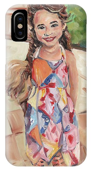 iPhone Case - Portrait Painting by Maria Reichert
