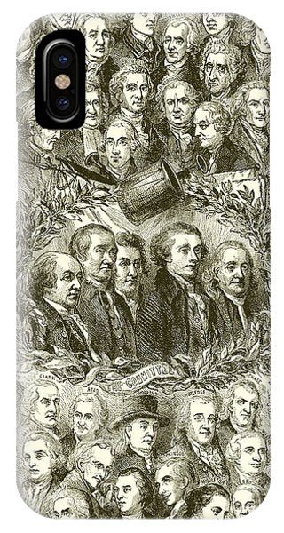 July 4 iPhone Case - Portraits Of The Signers Of The Declaration Of Independence by American School