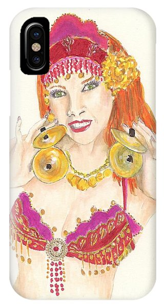 Portrait Of The Artist Playing Zills -- Belly Dancer Self-portrait IPhone Case