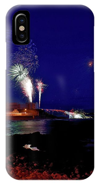 Portstewart Fireworks IPhone Case
