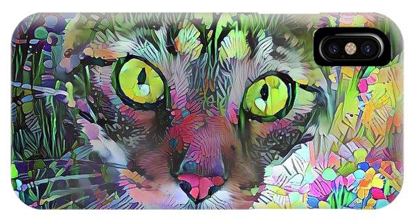 Posie The Tabby Cat IPhone Case