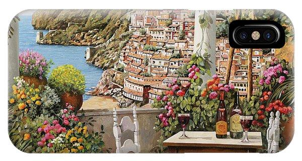 Wine Glass iPhone Case - Positano Dalla Terrazza by Guido Borelli
