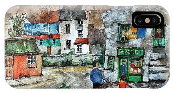 Post Office Mural In Ennistymon Clare IPhone Case