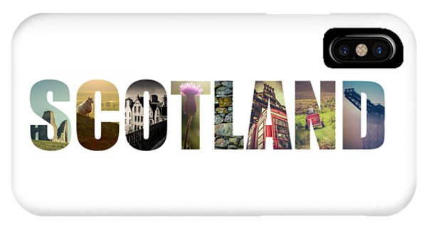 Beautiful Scotland iPhone Case - Postcard For Scotland by Mr Doomits