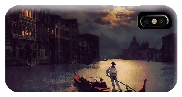 Postcards From Venice - The Red Gondola IPhone Case