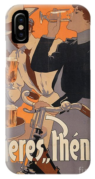 Decor iPhone Case - Poster Advertising Phenix Beer by Adolf Hohenstein