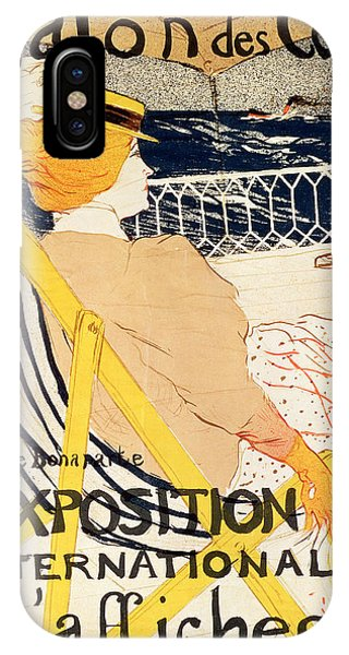 Cruise Ship iPhone Case - Poster Advertising The Exposition Internationale Daffiches Paris by Henri de Toulouse-Lautrec