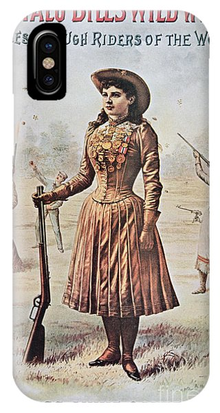 Sharpshooter iPhone Case - Poster For Buffalo Bill's Wild West Show With Annie Oakley by American School