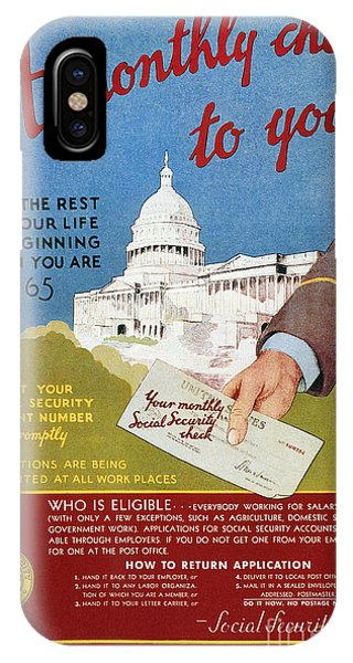 D.c. iPhone Case - Poster: Social Security by Granger