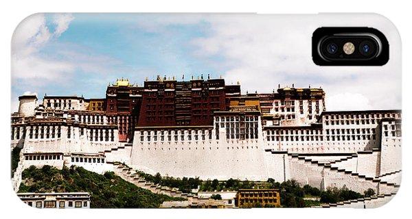 Kora iPhone Case - Potala Palace Dalai Lama Home Place. Tibet Kailash Yantra.lv 2016  by Raimond Klavins