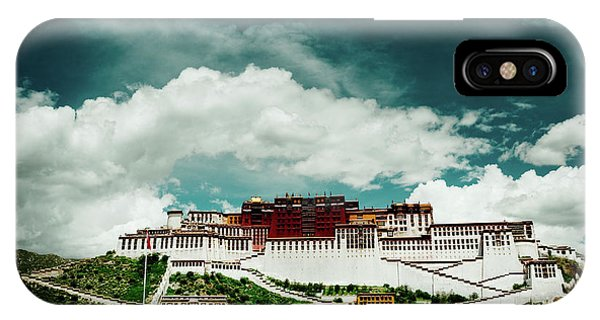 Kora iPhone Case - Potala Palace. Lhasa, Tibet. Dalai Lama. Yantra.lv by Raimond Klavins
