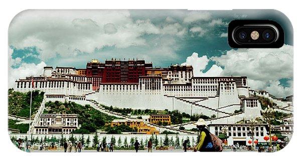 Kora iPhone Case - Potala Palace. Lhasa, Tibet. Yantra.lv by Raimond Klavins