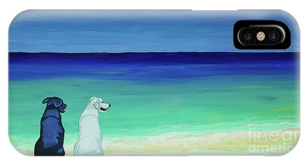 Lab Potcake Dogs On The Beach IPhone Case