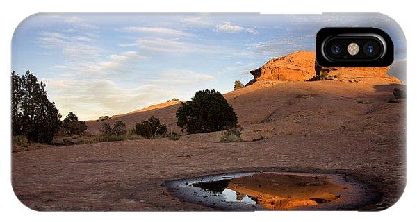 Slickrock iPhone Case - Pothole Reflection On Slickrock Trail by Dan Norris