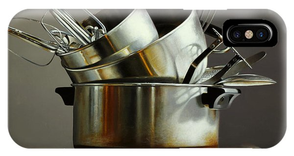 Stainless Steel iPhone Case - Pots And Pans by Lawrence Preston