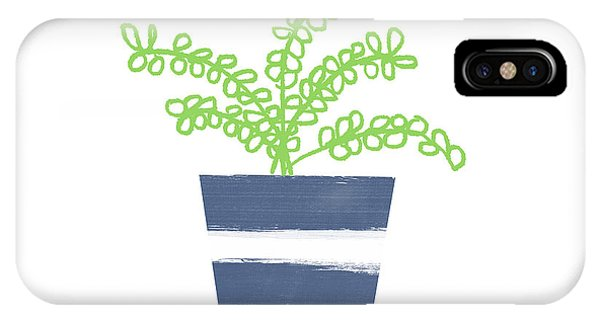 Succulent iPhone Case - Potted Plant 1- Art By Linda Woods by Linda Woods