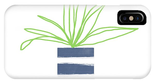Succulent iPhone Case - Potted Plant 2- Art By Linda Woods by Linda Woods