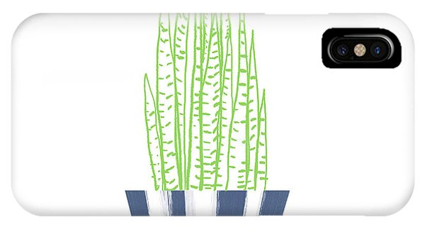 Succulent iPhone Case - Potted Succulent 3- Art By Linda Woods by Linda Woods