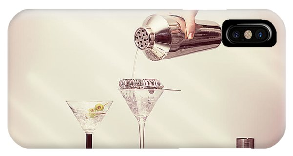 Shaker iPhone Case - Pouring A Martini by Amanda Elwell