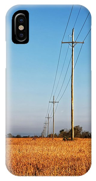 IPhone Case featuring the photograph Power Lines At Sunrise by Lars Lentz