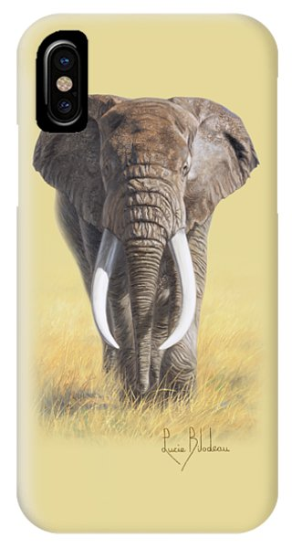 Bull iPhone Case - Power Of Nature by Lucie Bilodeau