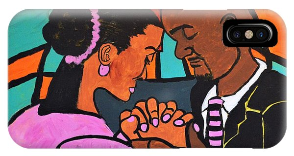 IPhone Case featuring the painting Power Of Prayer by Christopher Farris