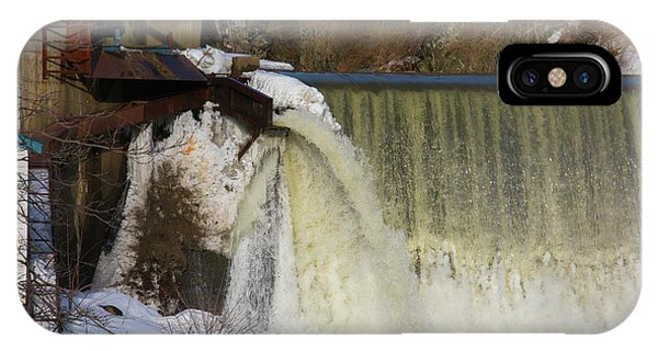 Power Station Falls On Black River One IPhone Case
