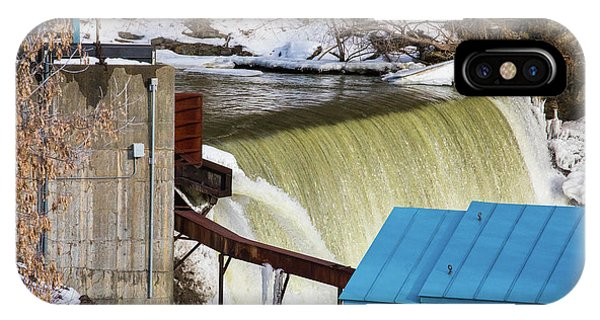 Power Station Falls On Black River Two IPhone Case