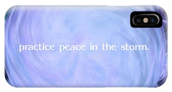 Fire Ball iPhone Case - Practice Peace In The Storm by Krissy Katsimbras