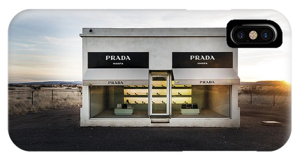 Prada Marfa Is A Permanently Installed Sculpture By Elmgreen And Dragset Near The Town Of Valentine IPhone Case
