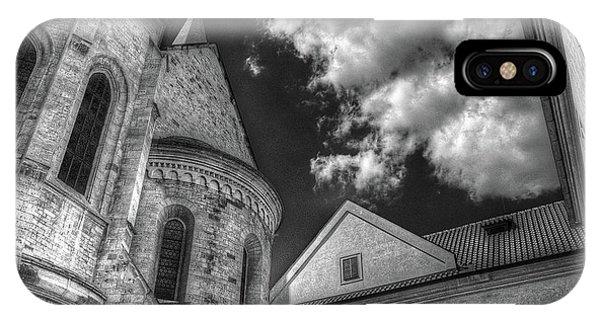 IPhone Case featuring the photograph Prague Castle Detail by Michael Kirk
