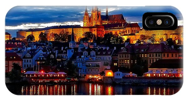 Prague Castle In The Evening IPhone Case