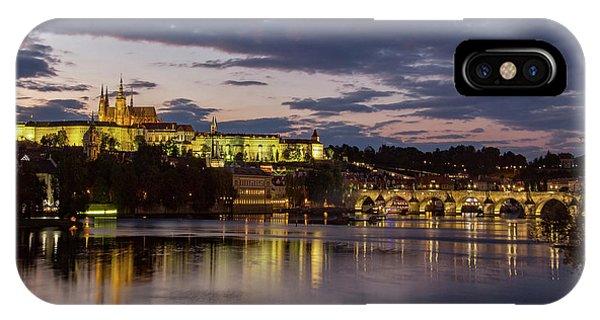 Prague Castle, Night View IPhone Case