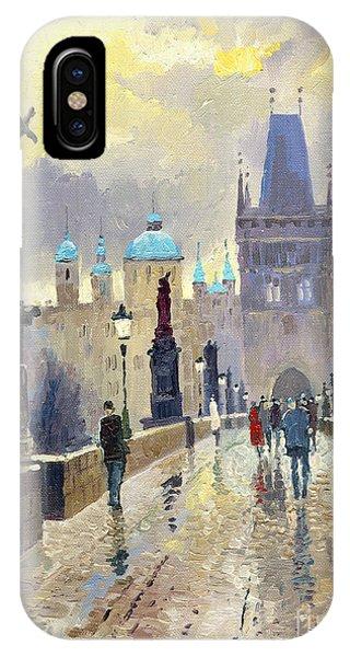 Prague Charles Bridge 02 IPhone Case