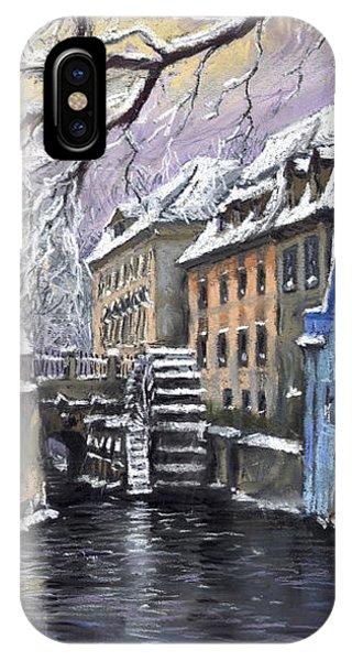 Pastel iPhone Case - Prague Chertovka Winter by Yuriy Shevchuk