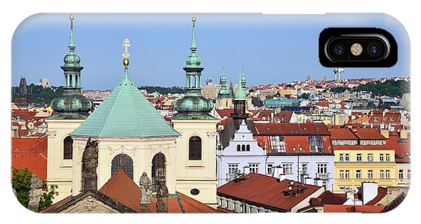 iPhone Case - Prague Church Towers And Rooftops by Kathy Yates