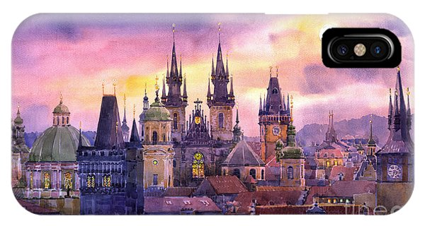 Building iPhone Case - Prague City Of Hundres Spiers Variant by Yuriy Shevchuk