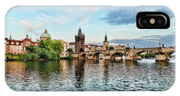 Prague From The River IPhone Case