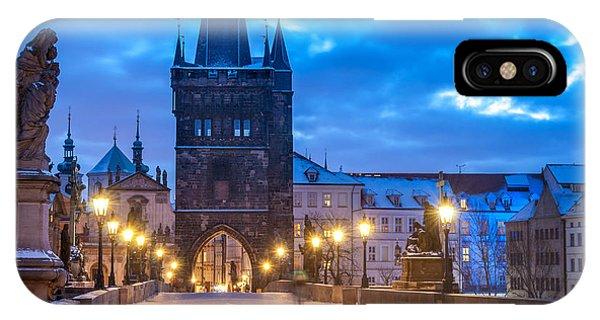 Prague In Blue IPhone Case