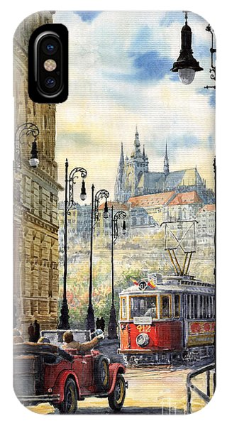 City Scenes iPhone Case - Prague Kaprova Street by Yuriy Shevchuk