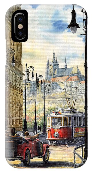 Scenic iPhone Case - Prague Kaprova Street by Yuriy Shevchuk