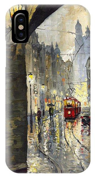Prague Mostecka Street IPhone Case