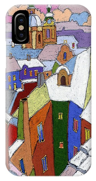 iPhone Case - Prague Old Roofs Winter by Yuriy Shevchuk