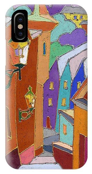 Pastel iPhone Case - Prague Old Steps Winter by Yuriy Shevchuk