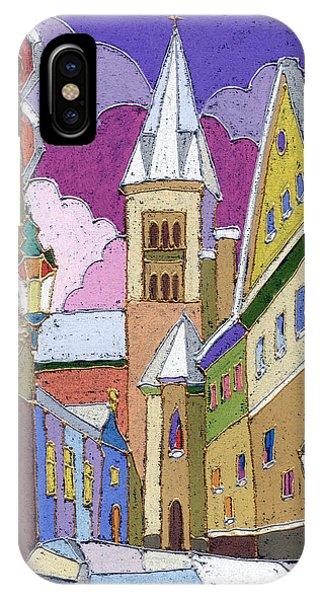 iPhone Case - Prague Old Street Jilska Winter by Yuriy Shevchuk