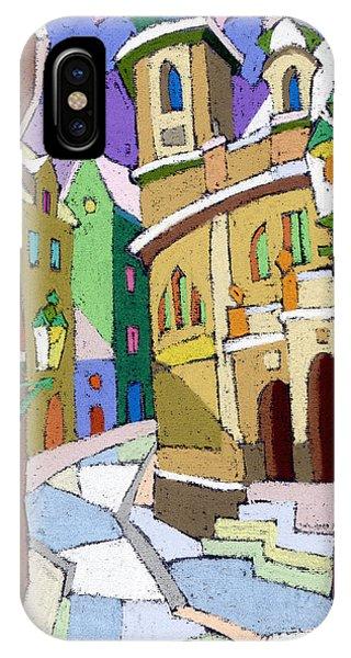 Pastel iPhone Case - Prague Old Street Karlova Winter by Yuriy Shevchuk